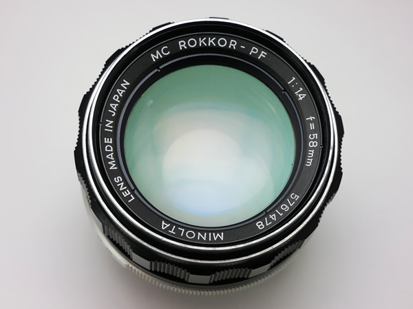 MINOLTA MC ROKKOR-PF 58mm F1.4