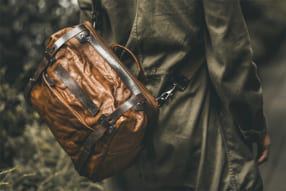 WOTANCRAFT LIGHTNING RIDER Full Leather Sling Bag