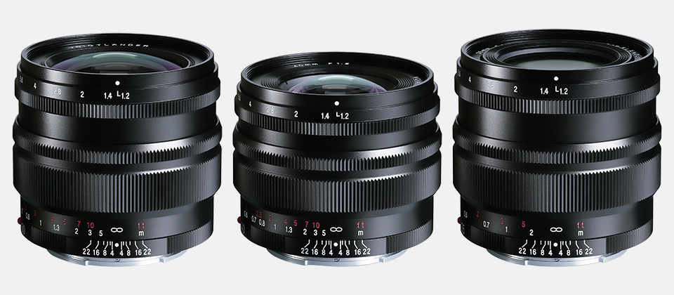 NOKTON 50mm / 40mm / 35mm F1.2 Aspherical SE E-mount