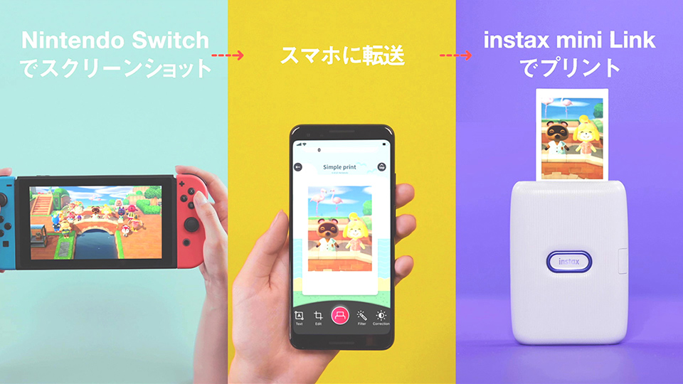 instax mini Link for Nintendo Switch